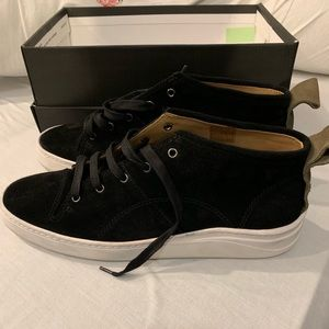Hudson nagano suede high top sneakers